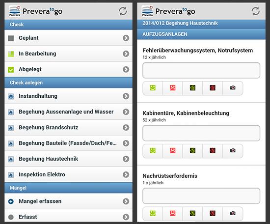 Bauwerkbuch Prevera to go App
