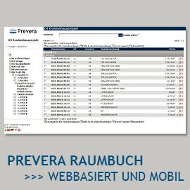 PREVERA Raumbuch - webbasiert und mobil
